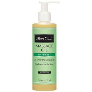 Bon Vital - Naturale Massage Oil - All Natural with Jojoba 8 oz. - 237 mL.