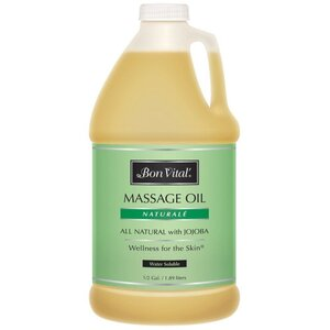 Bon Vital - Naturale Massage Oil - All Natural with Jojoba 64 oz. - 12 Gallon - 1.89 Liters