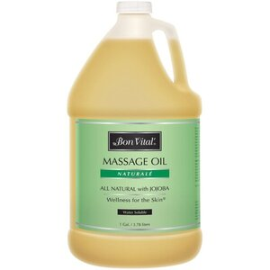 Bon Vital - Naturale Massage Oil - All Natural with Jojoba 128 oz. - 1 Gallon - 3.78 Liters