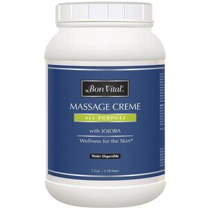 Bon Vital - All Purpose Massage Creme with Jojoba 128 oz. - 1 Gallon - 3.78 Liters