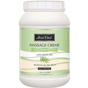 Bon Vital - Therapeutic Touch Massage Creme with Olive Oil 128 oz. - 1 Gallon - 3.78 Liters
