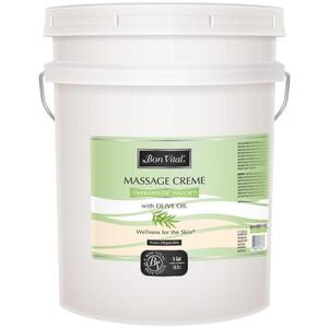 Bon Vital - Therapeutic Touch Massage Creme with Olive Oil 5 Gallons - 18.9 Liters