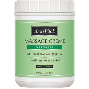 Bon Vital - Naturale Massage Creme - All Natural with Jojoba 64 oz. - 12 Gallon - 1.89 Liters