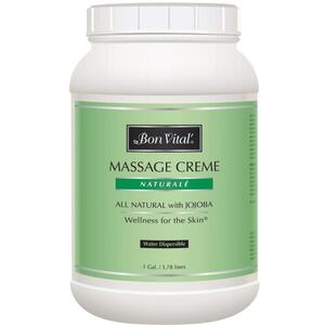 Bon Vital - Naturale Massage Creme - All Natural with Jojoba 128 oz. - 1 Gallon - 3.78 Liters