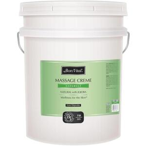 Bon Vital - Naturale Massage Creme - All Natural with Jojoba 5 Gallons - 18.9 Liters