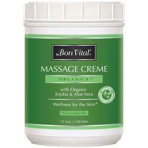 Bon Vital - Organica Massage Creme with Organic Jojoba & Aloe Vera 64 oz. - 12 Gallon - 1.89 Liters