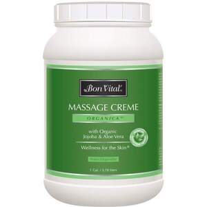 Bon Vital - Organica Massage Creme with Organic Jojoba & Aloe Vera 128 oz. - 1 Gallon - 3.78 Liters