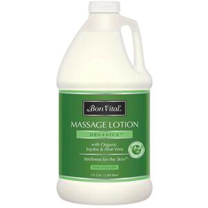 Bon Vital - Organica Massage Lotion with Organic Jojoba & Aloe Vera 64 oz. - 12 Gallon - 1.89 Liters