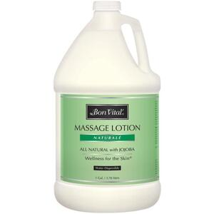 Bon Vital - Naturale Massage Lotion - All Natural with Jojoba 128 oz. - 1 Gallon - 3.78 Liters