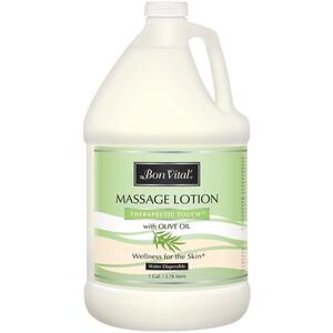 Bon Vital - Therapeutic Touch Massage Lotion with Olive Oil 128 oz. - 1 Gallon - 3.78 Liters