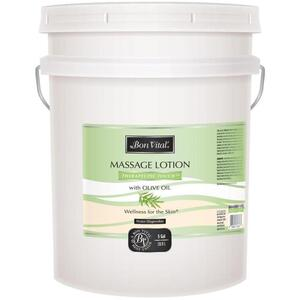 Bon Vital - Therapeutic Touch Massage Lotion with Olive Oil 5 Gallons - 18.9 Liters