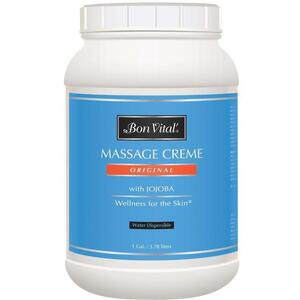 Bon Vital - Original Massage Creme with Jojoba 128 oz. - 1 Gallon - 3.78 Liters