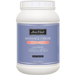 Bon Vital - Deep Tissue Massage Creme with Jojoba 128 oz. - 1 Gallon - 3.78 Liters