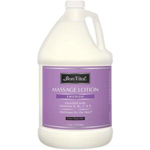 Bon Vital - Swedish Massage Lotion - Enriched with Vitamin's A B5 C and E 128 oz. - 1 Gallon - 3.78 Liters