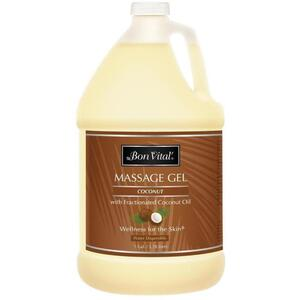 Bon Vital - Coconut Massage Gel with Fractionated Coconut Oil 128 oz. - 1 Gallon - 3.78 Liters