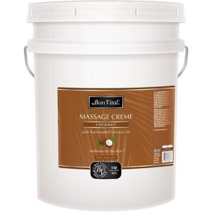 Bon Vital - Coconut Massage Creme with Fractionated Coconut Oil 5 Gallons - 18.9 Liters