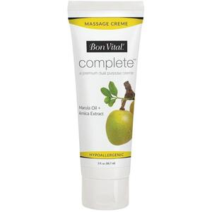Bon Vital - Complete Massage Creme - a Premium Dual Purpose Creme with Marula Oil + Arnica Extract 3 oz. - 88.7 mL. Tube