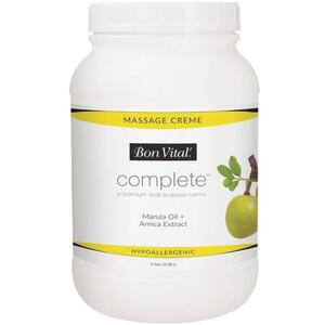 Bon Vital - Complete Massage Creme - a Premium Dual Purpose Creme with Marula Oil + Arnica Extract 128 oz. - 1 Gallon - 3.78 Liters