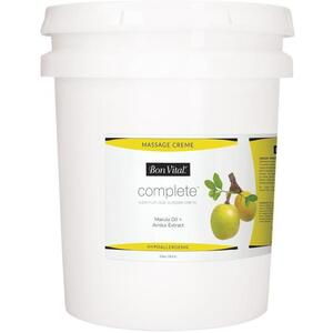 Bon Vital - Complete Massage Creme - a Premium Dual Purpose Creme with Marula Oil + Arnica Extract 5 Gallons - 18.9 Liters