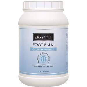 Bon Vital - Foot Balm - Original Formula 128 oz. - 1 Gallon - 3.78 Liters