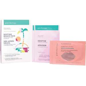 Patchology - Resting Beach Face Soothing Sheet Mask & Lip Gel Kit