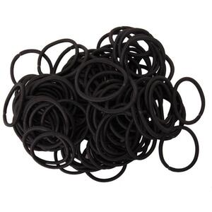 "Complete Pro Nylon Thick Large Hair Ties - 4 mm Thick x 2"" Diameter 100 Count"