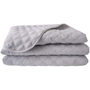 "Sposh Microfiber Quilted Blanket - Dove Grey 56""W x 87""L - Fits a Standard Table 30""W x 73""L"