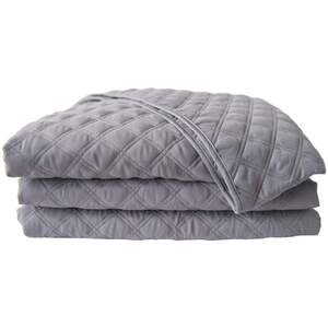 "Sposh Microfiber Quilted Blanket - Slate Grey 56""W x 87""L - Fits a Standard Table 30""W x 73""L"