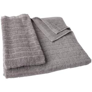 "Sposh Professional Medium Hand Towel - Grey - 100% Ring Spun Cotton Terry Loop 600 GSM 15""W x 25""L"