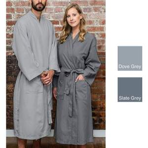 Sposh Microfiber Robe - Dove Grey One Size Fits Most