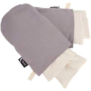 Sposh Herbal Mitts Set - Pelican Grey Includes 1 pair Mitts + Removable Washable Cover + 4 Inserts