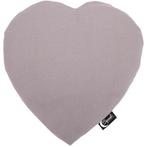 "Sposh Heart-Shaped Heat Pack - Pelican Grey 13""L x 12""W - Includes Removable Washable Cover"