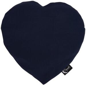 "Sposh Heart-Shaped Heat Pack - Navy 13""L x 12""W - Includes Removable Washable Cover"