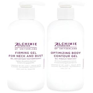 Alchimie Forever - Body Trial Kit Firming Gel for Neck and Bust 8 oz. - 236 mL. and Optimizing Body Contour Gel 8 oz. - 236 mL.