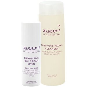 Alchimie Forever - Trial Kit Oily Skin Purifying Facial Cleanser 6.6 oz. - 200 mL. and Protective Day Cream 1.7 oz. - 50 mL.