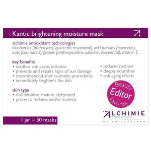 Alchimie Forever - Shelf-Talkers Kantic Brightening Moisture Mask