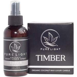Pure Light Organic Body Spray + Room Spray + Linen Spray - Timber 3.4 oz.