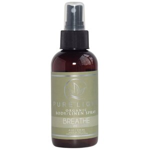 Pure Light Organic Body Spray + Room Spray + Linen Spray - Breathe 3.4 oz.