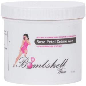 BOMBSHELL Rose Petal Creme - Low Temperature Strip Wax 15 oz.