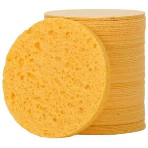 "Complete Pro Round Compressed Sponge - Natural - 2.75""D x 0.38""H 75 Pack"