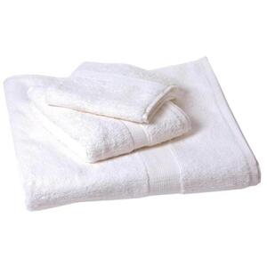 "Plush Terry Bath Towel - 100% Ring Spun Egyptian Cotton - White 27""W x 54""L"