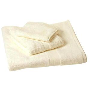 "Plush Terry Bath Towel - 100% Ring Spun Egyptian Cotton - Cream 27""W x 54""L"