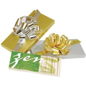 "Silver Gift Certificate Box - 6.75"" x 3.375"" x 0.5"""