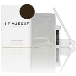 Le Marque Brow Henna Treatment Kit - DARK BROWN 12 Sachets of Henna = Approximately 84 Services + Measuring Scoop + Mixing Cup + Airtight Storage Bottle + Product Guide
