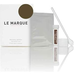 Le Marque Brow Henna Treatment Kit - LIGHT BROWN 12 Sachets of Henna = Approximately 84 Services + Measuring Scoop + Mixing Cup + Airtight Storage Bottle + Product Guide