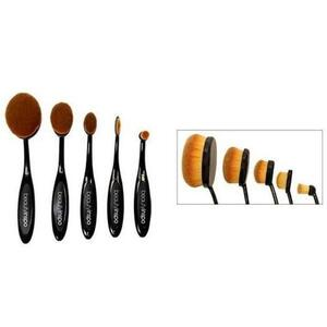 Oval Paddle Makeup Brush Set 5 Pieces