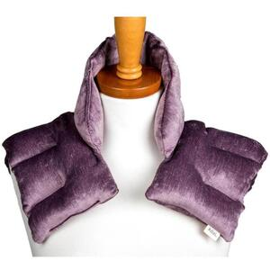 "Kozi - Comforting Shoulder Wrap Material: Velour Size: 17""L x 16""W Color: Amethyst"