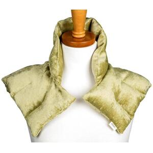 "Kozi - Comforting Shoulder Wrap Material: Velour Size: 17""L x 16""W Color: Pear"