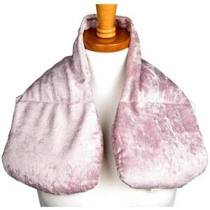 "Kozi - Décolleté Neck Wrap Material: Velour Size: 28""L x 9""W Color: Blush"