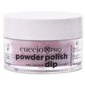 Cuccio Pro - Powder Polish Nail Colour Dip System -Deep Purple Glitter 0.5 oz.